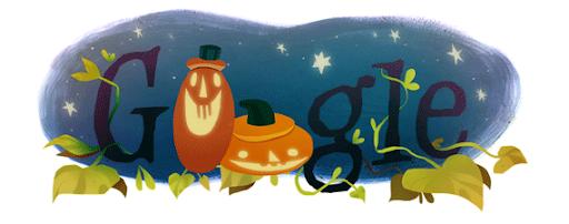Google Halloween Themed Logo