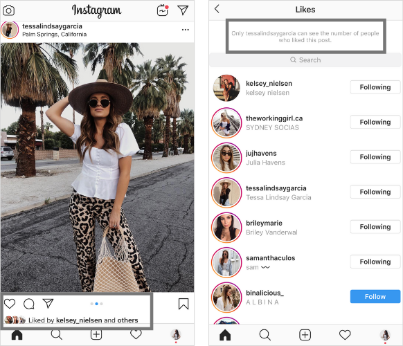 Instagram Hidden Likes in The US